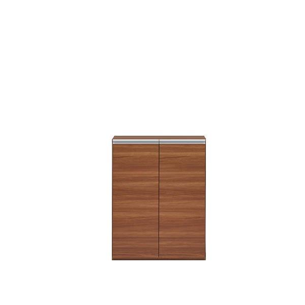 組合せ自由シューズボックス ECD-74L(リアルウォールナット 幅74.3x奥行38.8x高さ95.6cm)