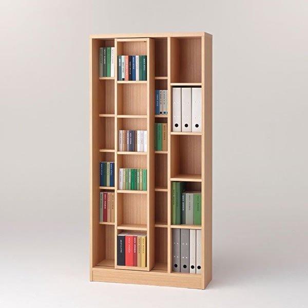 スライド書棚フナモコ(限定品)ACEシリーズ(エリーゼアッシュ 幅90奥行30高さ179.5)