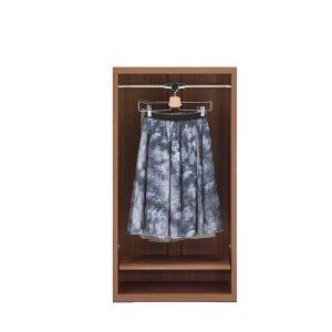 リビングシェルフ 洋服オープン(リアルウォールナット 幅60奥行36.7高さ113.8cm)