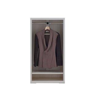 リビングシェルフ 洋服オープン(ホワイトウッド 幅60奥行36.7高さ113.8cm)