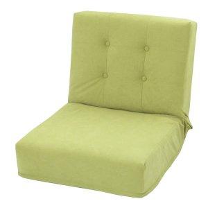厚みのある座椅子 1人掛/42段階リクライニング(シングル/スエード調生地 幅53x奥行70x高さ53cm)