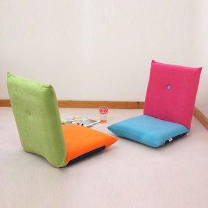 コンパクト座椅子 ポシェット(14段階リクライニング カラー11種類)