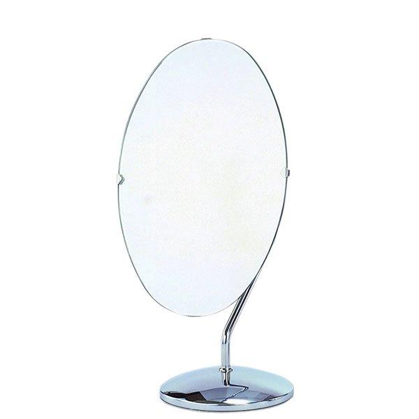 ファッション デスクミラー/回転鏡楕円形(幅24.5奥行18高さ47.5)