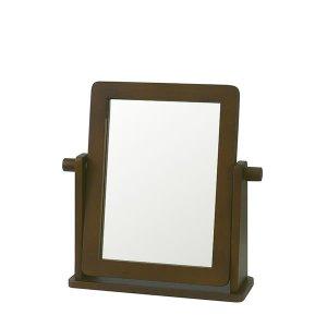 木製シンプル 卓上ミラー(幅30x高さ30)