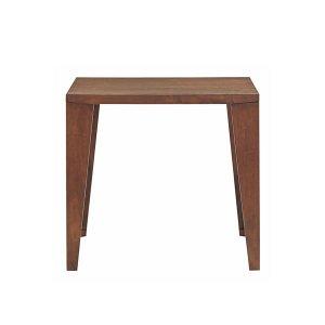 (シンプル)タモ材突板ダイニングテーブル(2人掛/幅80x奥行80)