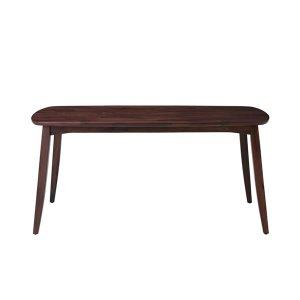 (天然木レトロ)ウォールナット集成材ダイニングテーブル(4人掛/幅150奥行85高さ70)