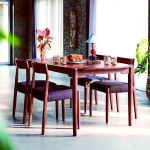 (天然木)ウォールナット集成材ダイニングテーブル(4人掛/幅150奥行85高さ70)