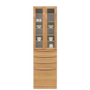 アルダー材ハイタイプ食器棚(幅60x奥行48.5x高さ207.5)