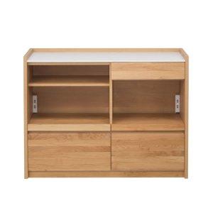 アルダー材/人工大理石天板カウンター(幅120奥行44.5高さ90.5)