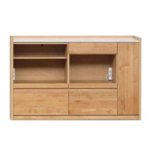 アルダー材/人工大理石天板カウンター(幅144奥行44.5高さ90.5)