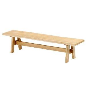 ダイニングベンチ/天然木タモ無垢材(幅180)