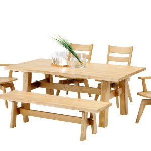 ダイニングテーブル/天然木タモ材(幅180x奥95x高さ69)