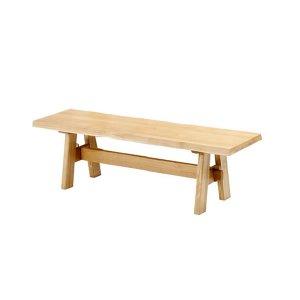 ダイニングベンチ/天然木タモ無垢材(幅118)