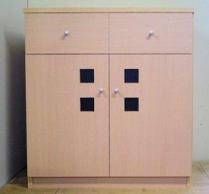 オーダー家具制作事例0236:カウンター下ラック(幅70x奥行40x高さ77)