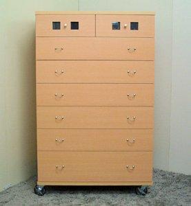オーダー家具制作事例0105:「ウィンドウ」チェスト7段