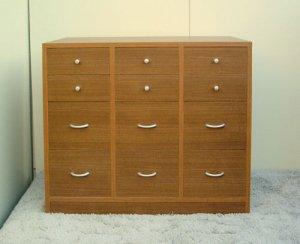 オーダー家具制作事例0159:メールボックス(4段x3列)