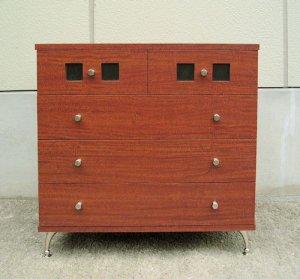 オーダー家具制作事例0166:チェスト「ウィンドウ」4段