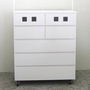 オーダー家具制作事例0395:チェスト5段/キャスター付き(幅80x奥40x高さ97)