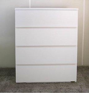 オーダー家具制作事例0493:4段チェスト(幅81.5x奥39.5x高96.5)