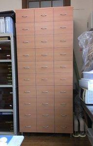 オーダー家具制作事例0526:「メールボックス」3列10段(幅111.5x奥52.5x高256.7)