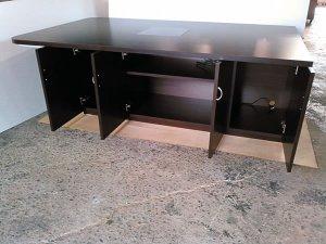 オーダー家具制作事例0558:収納付きテーブル(幅186x奥110x高65)