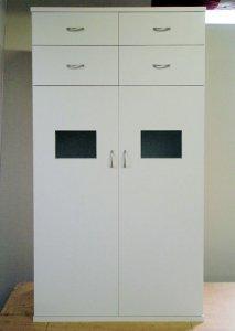 オーダー家具制作事例0220:「ウインドウ」キャビネット高さ144cm