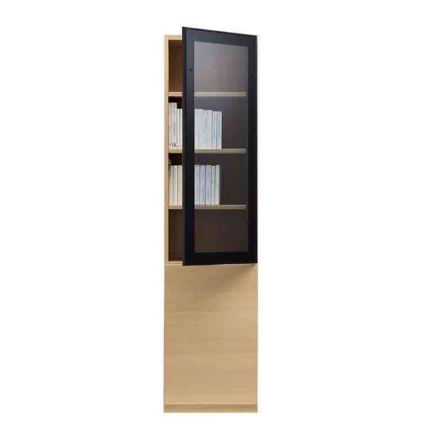 ブックすきまくんBSP/定尺幅 上段ガラス扉-下段板扉 幅45x高さ180.2cm