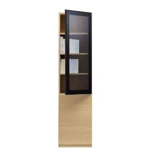 ブックすきまくんBSP/上段ガラス扉-下段板扉 幅45x高さ180.2cm