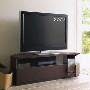 コーナー薄型テレビボード/ゲーム機収納(46型対応/幅120x高さ42/ダーク/完成品)