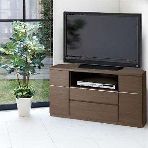 Dee ディー コーナーハイテレビボード(ガラス無し)/壁面置きも可能 (幅120x奥行44x高さ66cm 完成品)