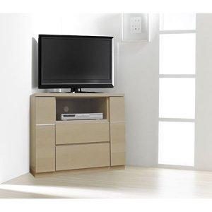 Dee ディー コーナーハイテレビボード(ガラス無し)/壁面置きも可能 (幅90x奥行44x高さ66cm 完成品)