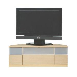 コーナー薄型テレビボード/ゲーム機収納(46型対応/幅120x高さ42/ナチュラル色/完成品)