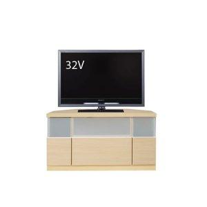 Dee ディー コーナーTVボード ナチュラル色/壁面置きも可能 ゲーム機収納 37/46型対応(幅90x奥行43x高さ42cm 完成品)