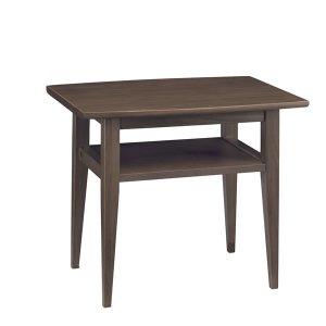 天然木リビングテーブル(ウエンジ色 幅60x奥行45 ニレ無垢材)