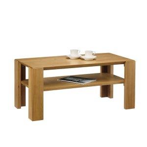 天然木リビングテーブル(幅100x奥行52 ニレ無垢材)