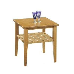 木製リビングテーブル(ライト色 幅45x奥行45 マイアン材/MDF)