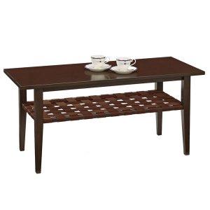 木製リビングテーブル(ダーク色 幅105x奥行45 マイアン材/MDF)