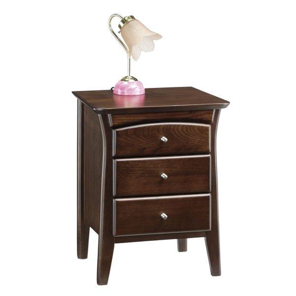 彩美/木製ナイトテーブル(幅43x高さ53)