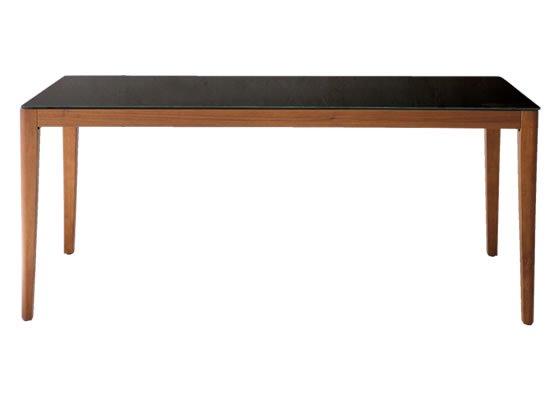 ガラストップ ダイニングテーブル(ダークブラウン 6mm厚強化ガラス/飛散防止加工 幅150奥行80高さ72)