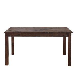 ヴィンテージ仕上天然木集成材ダイニングテーブル(ダメージ加工 幅135奥行80高さ73cm)