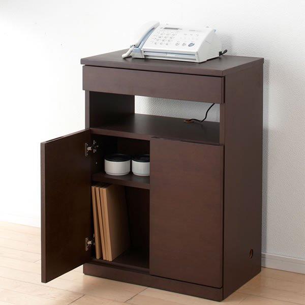 ファックス台/背面収納キャビネット(幅60.5x奥行37.5x高さ85)