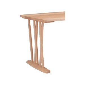楓の森メープル材 テーブルスピンドル脚/2組(ナチュラル色 テーブル高72cm)