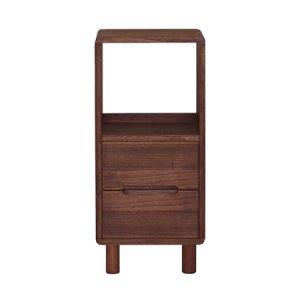 桐無垢 天然木オイル塗装 ファックス台(ブラウン色/幅36x高さ80)