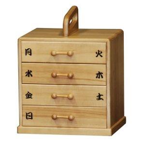 桐の薬箱(1週間用)(幅27x奥行21x高さ27)