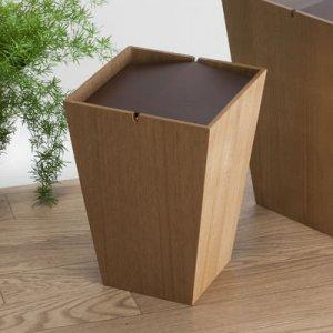 木製回転蓋ダストボックス ルーフS(ナチュラル 幅20奥20高さ28cm)