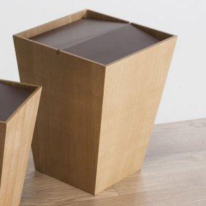 木製回転蓋ダストボックス ルーフL(ナチュラル 幅26.5奥26.5高さ34cm)