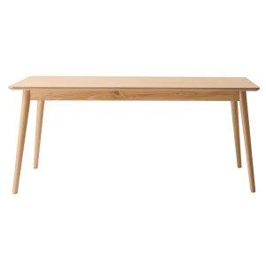 北欧調/ダイニングテーブル4人掛(天然木アッシュ 幅160x奥行75x高さ69cm)