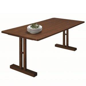リビングダイニング兼用テーブル(幅150x奥行75高さ60cm)/天然木アッシュ突板(ブラウン)