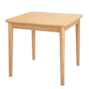 低いダイニングテーブル(幅75奥行75高さ64cm)/タモ突板/F★★★★(ナチュラル)