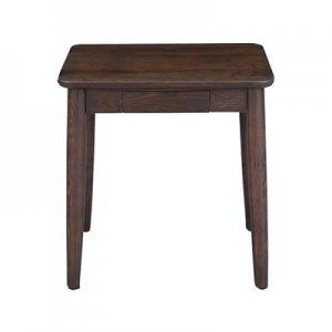 サイドテーブル タモ突板/F★★★★(ブラウン幅50奥行40高さ49cm)